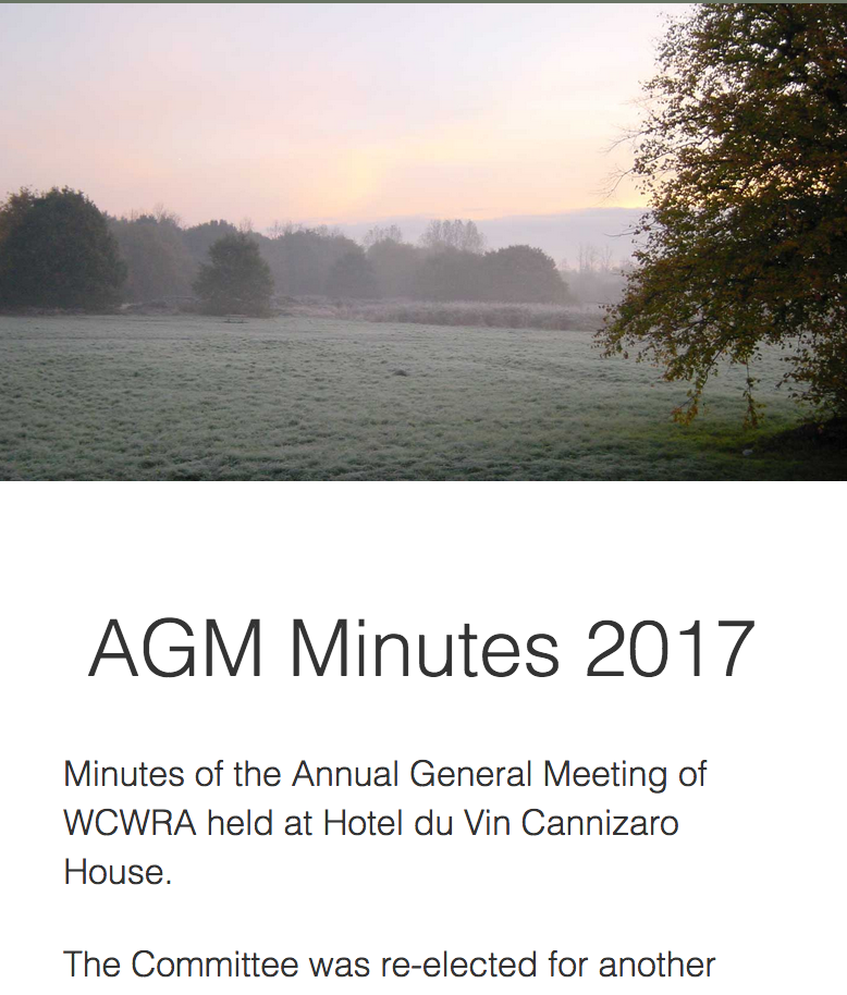 Wimbledon Common WCWRA AGM